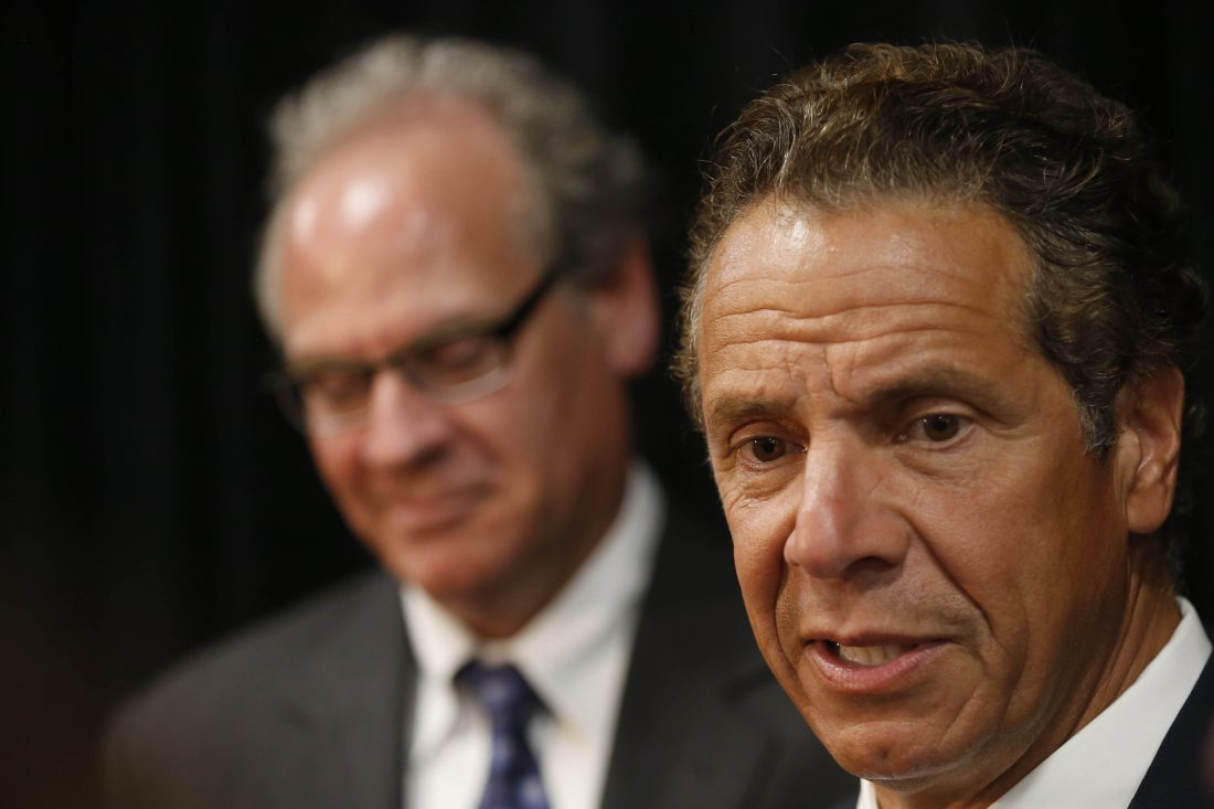 Gov. Andrew Cuomo with Howard Zemsky, president and chief executive officer of the Empire State Development Corp. (Buffalo News/file art)