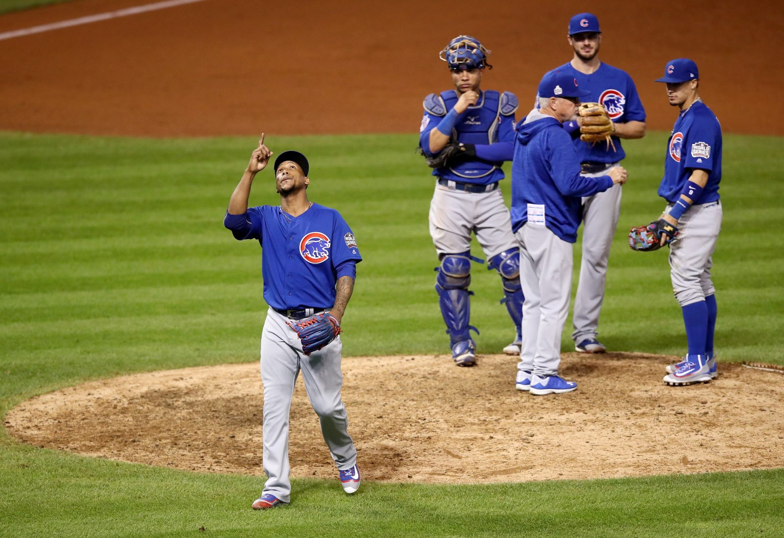 The ratings and the Cubs chances are both on the way up. (Ezra Shaw/Getty Images)