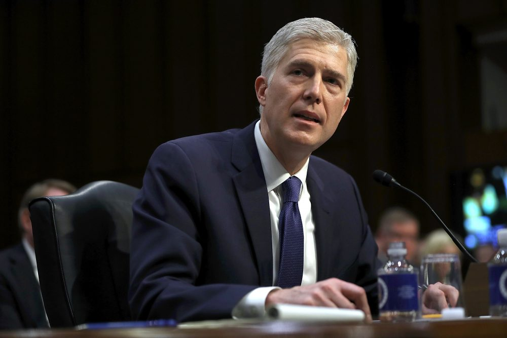 Judge Neil Gorsuch speaks during the first day of his Supreme Court confirmation hearing before the Senate Judiciary Committee. (Getty Images)