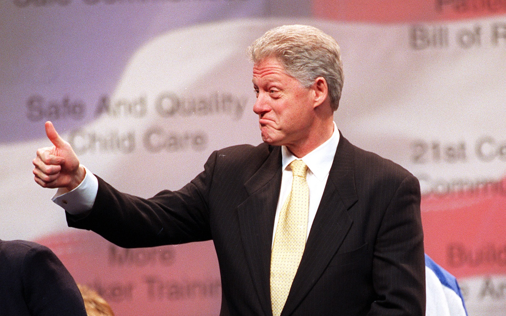 President Bill Clinton, pictured during a visit to Buffalo on Jan. 20, 1999, at Marine Midland Area. (News file photo)