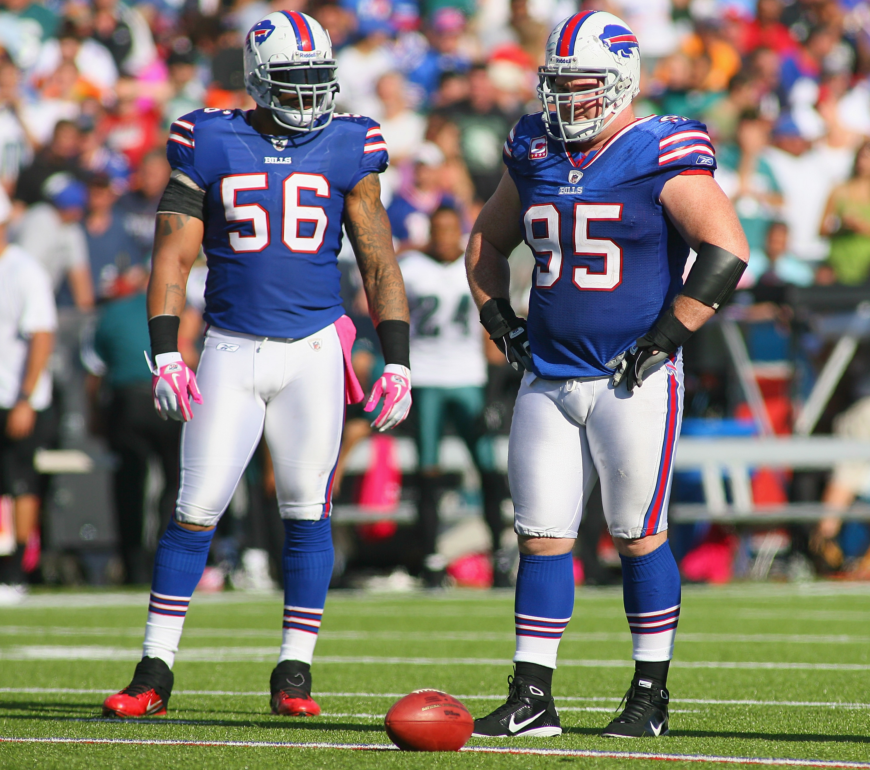 Williams has lined up alongside a vast array of teammates, including Shawne Merriman. (Getty Images)