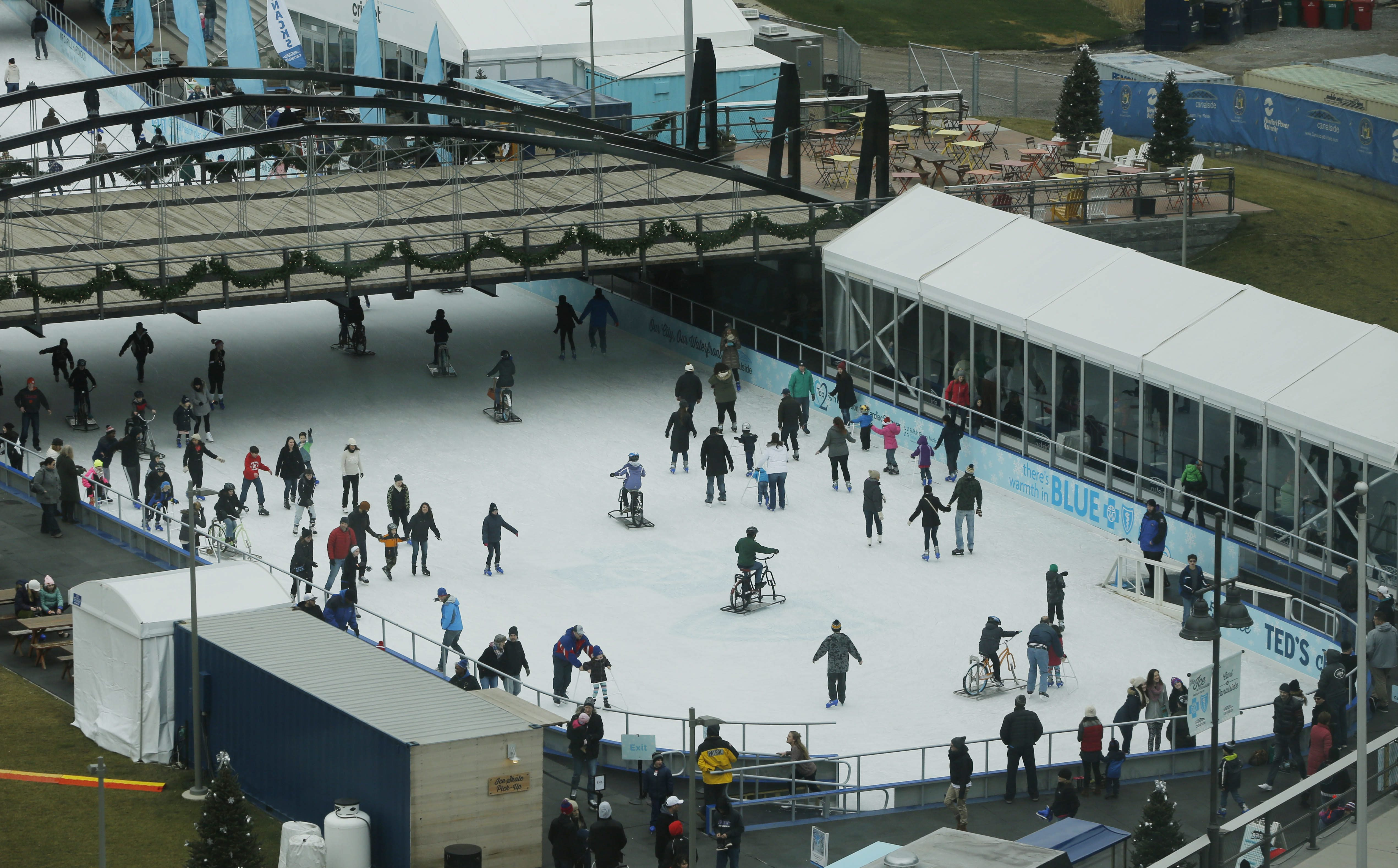 Canalside's ice rink draws people downtown during snow season. (Derek Gee/News file photo)