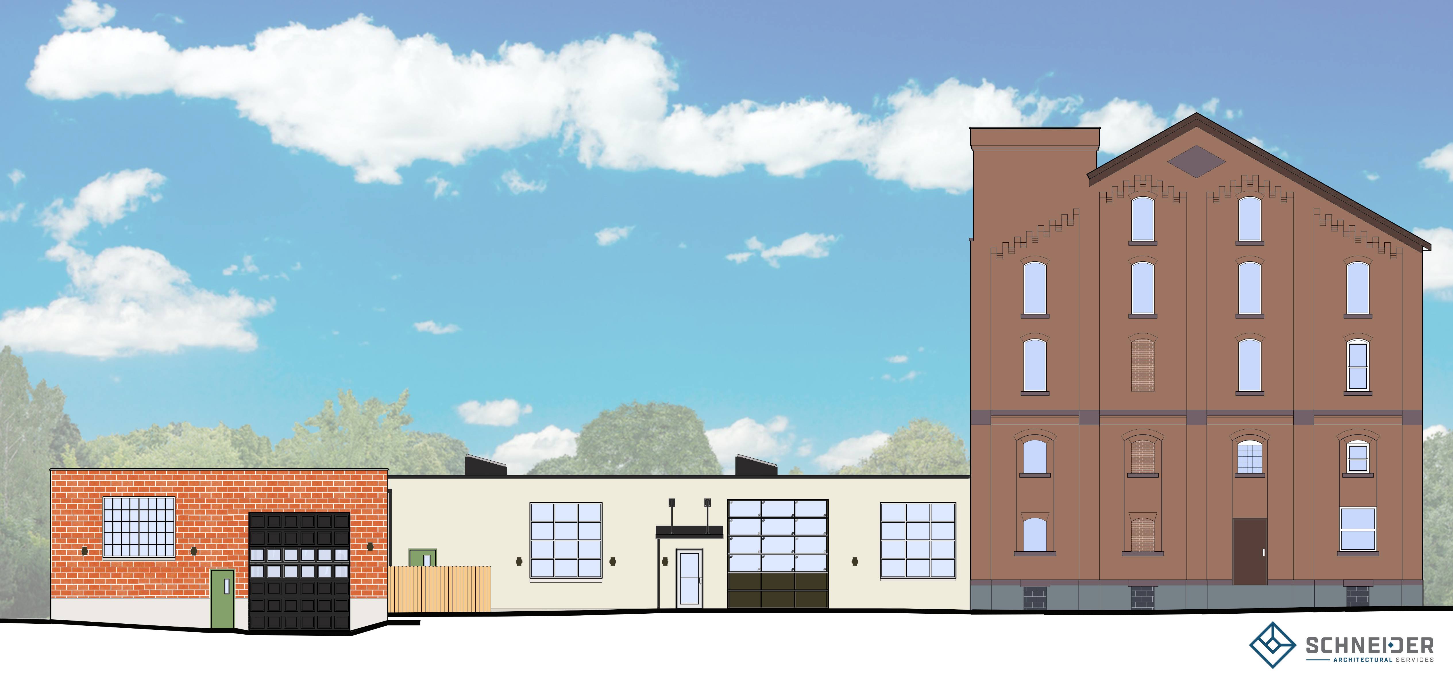 Here is a rendering of the proposed Community Beer Works project.