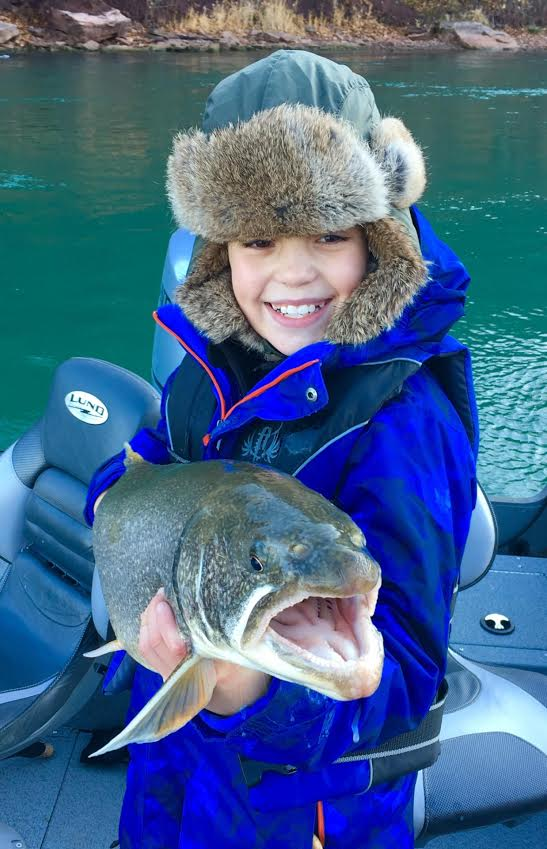 Gavin Beck, an 11 year old from West Seneca, was fishing with Capt. Ted Kessler of Grand Island to take this nice lake trout while drifting a small chartreuse spawn sac.