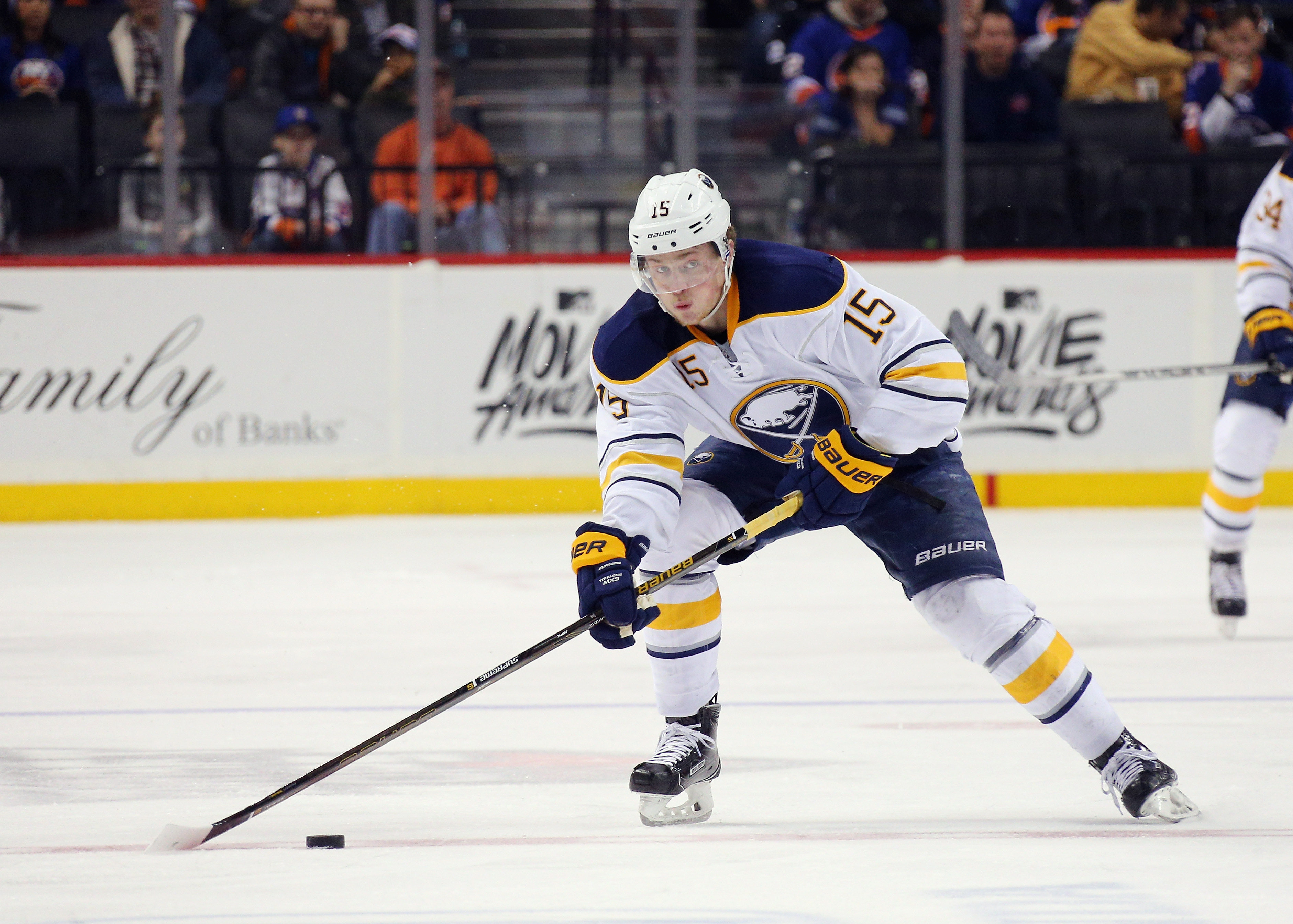 Jack Eichel will make his season debut Tuesday in Ottawa. (Getty Images)