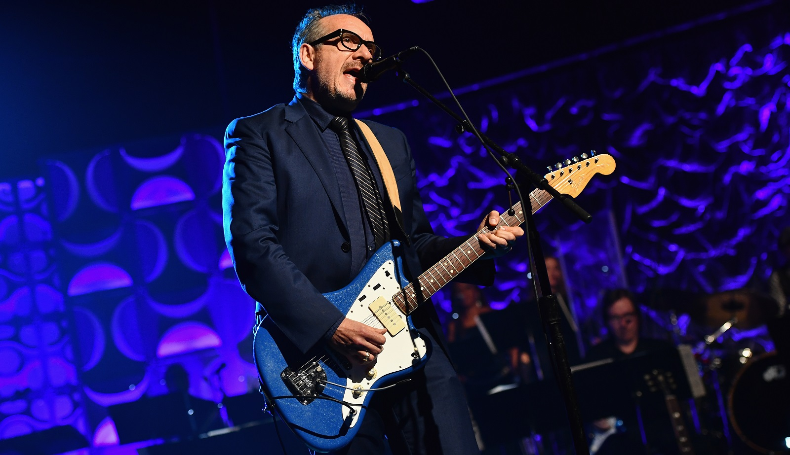Elvis Costello, pictured performing in New York City in June, played Shea's Performing Arts Center on Nov. 2, 2016. (Getty Images)