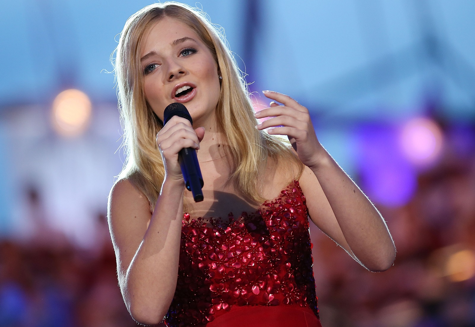 Jackie Evancho, pictured performing in Washington, DC in July, worked with Williamsville native and Trans-Siberian Orchestra founder Robert Kinkel on her recent Christmas album and upcoming original music. (Getty Images)