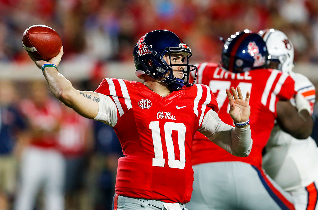 Chad Kelly paid a pre-draft visit to the Bills. (Getty Images)