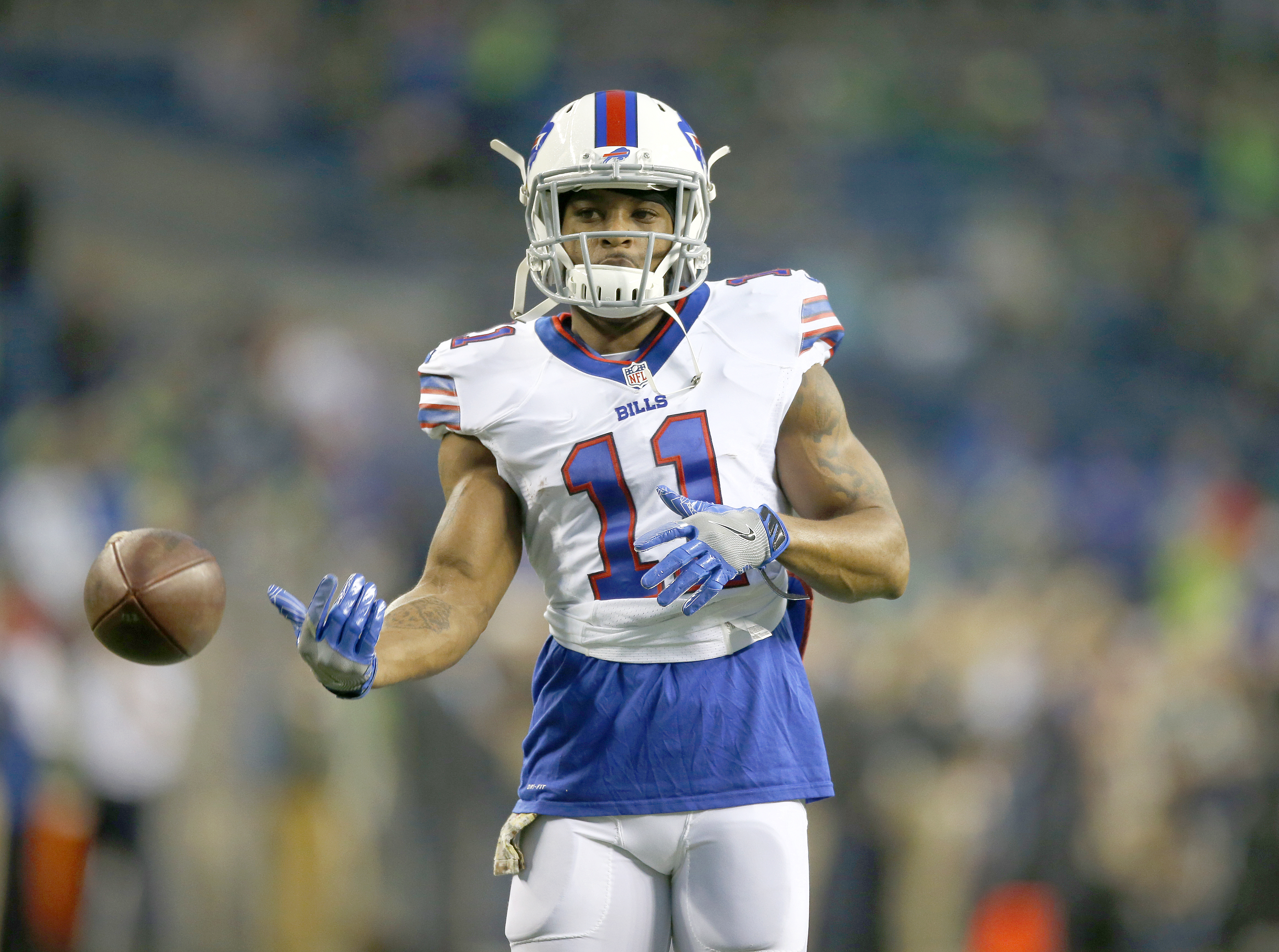 Bills receiver Percy Harvin missed two days of practice during the week with what the team called an illness. (Getty Images)