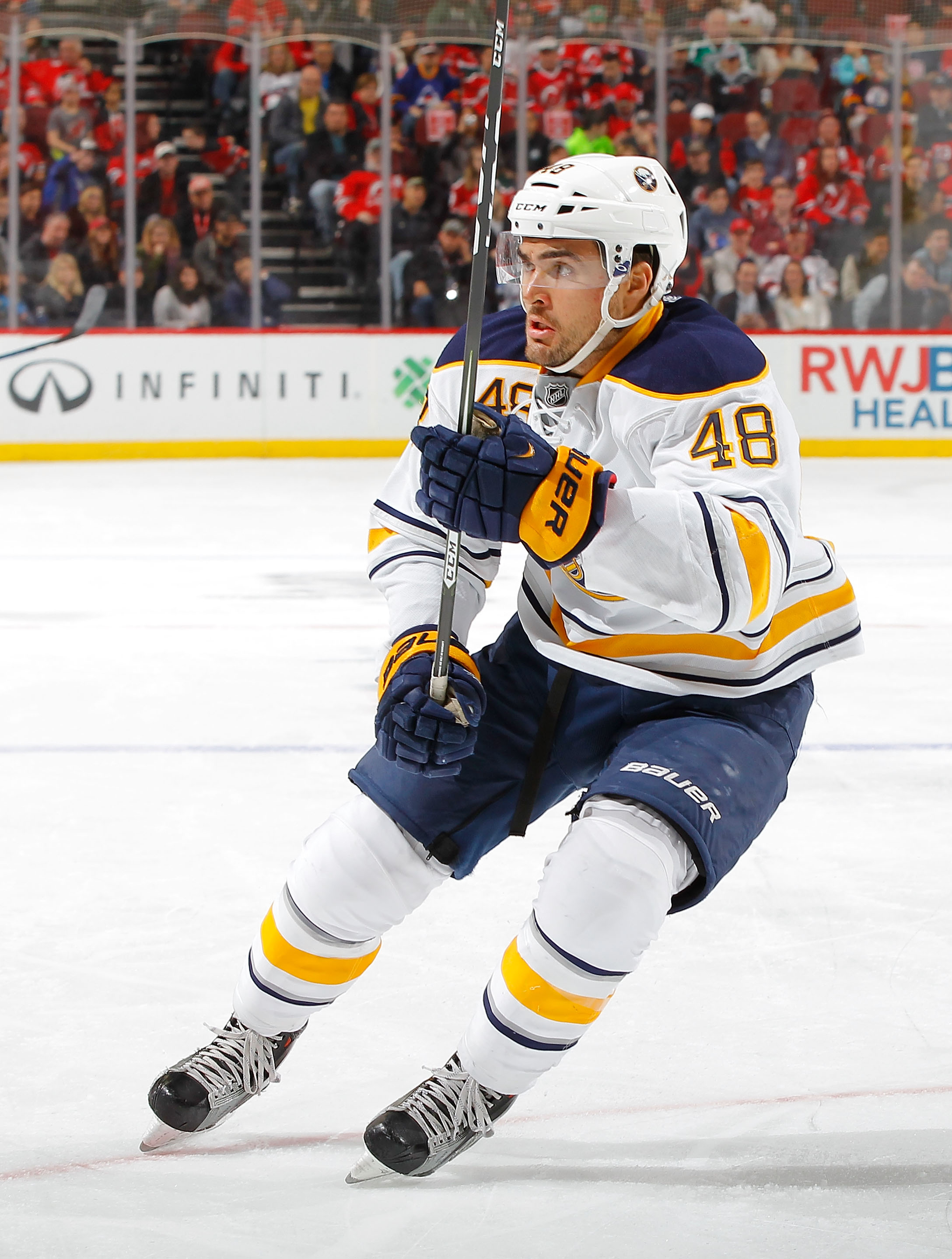 William Carrier will play on the Sabres' top line. (Getty Images)