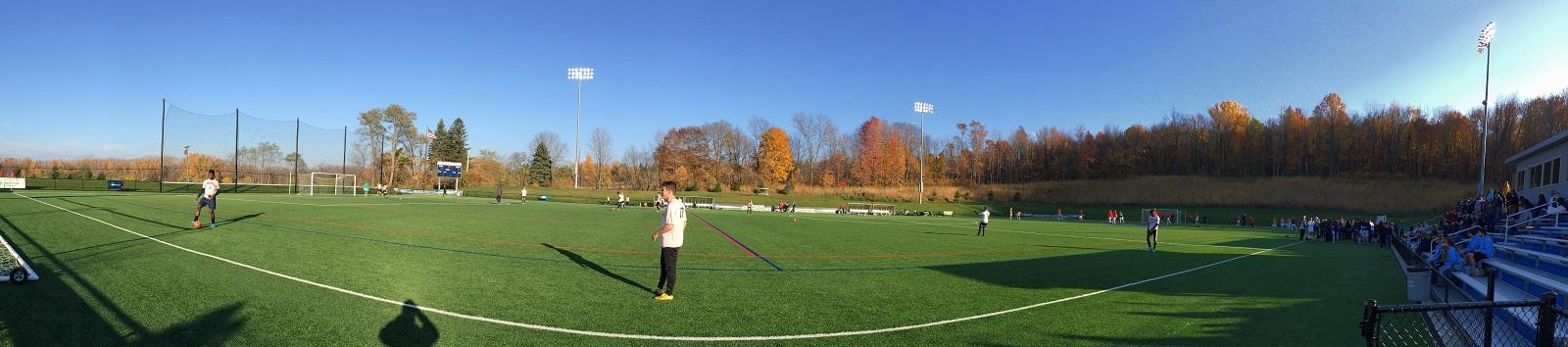 Panorama shot of Junker Field at Penn State Behrend.. (Ben Tsujimoto/Buffalo News)