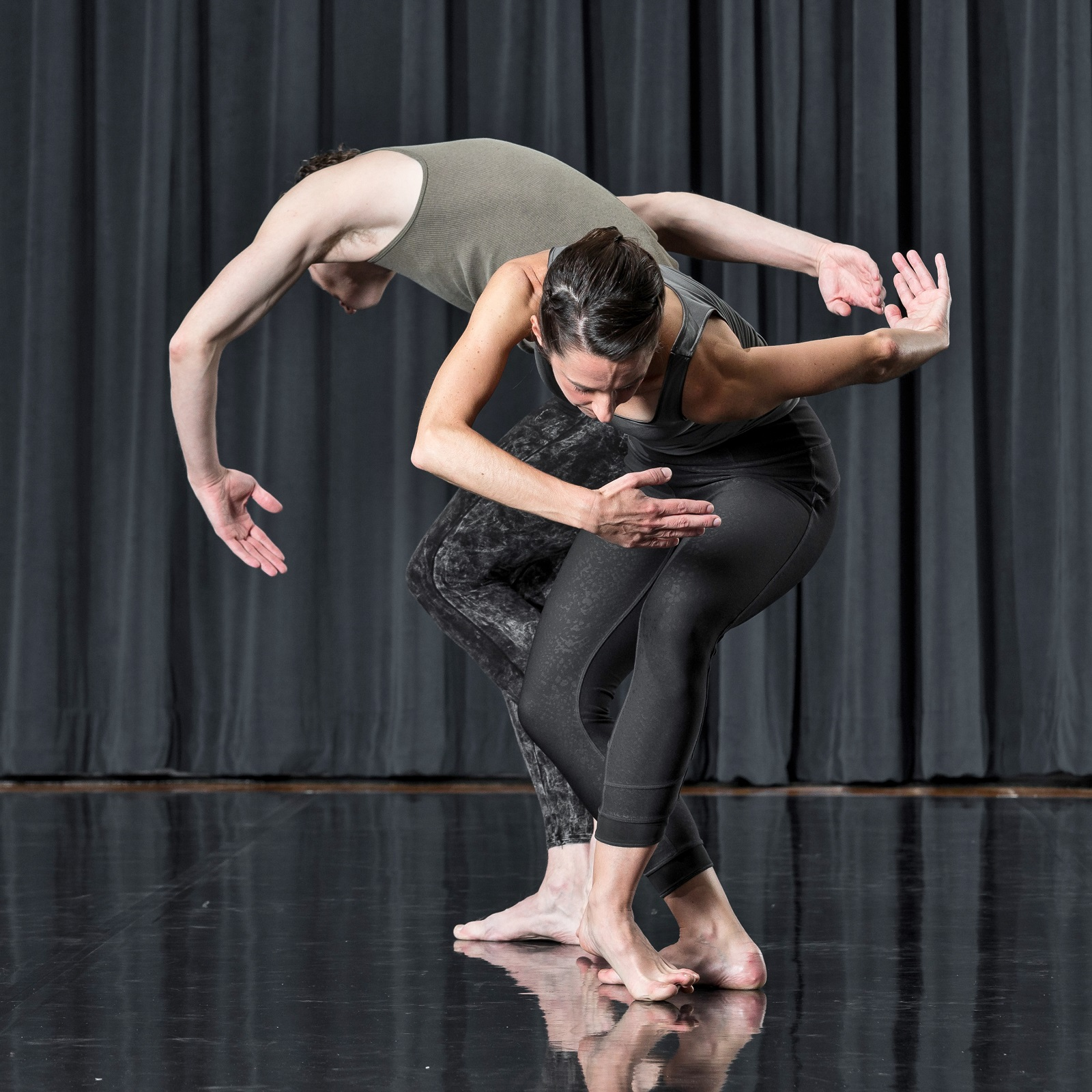 """Couplet"" is a 10-minute duet with Melanie Aceto and Phil Wackerfuss.  (Photo by Paul Hokanson)"