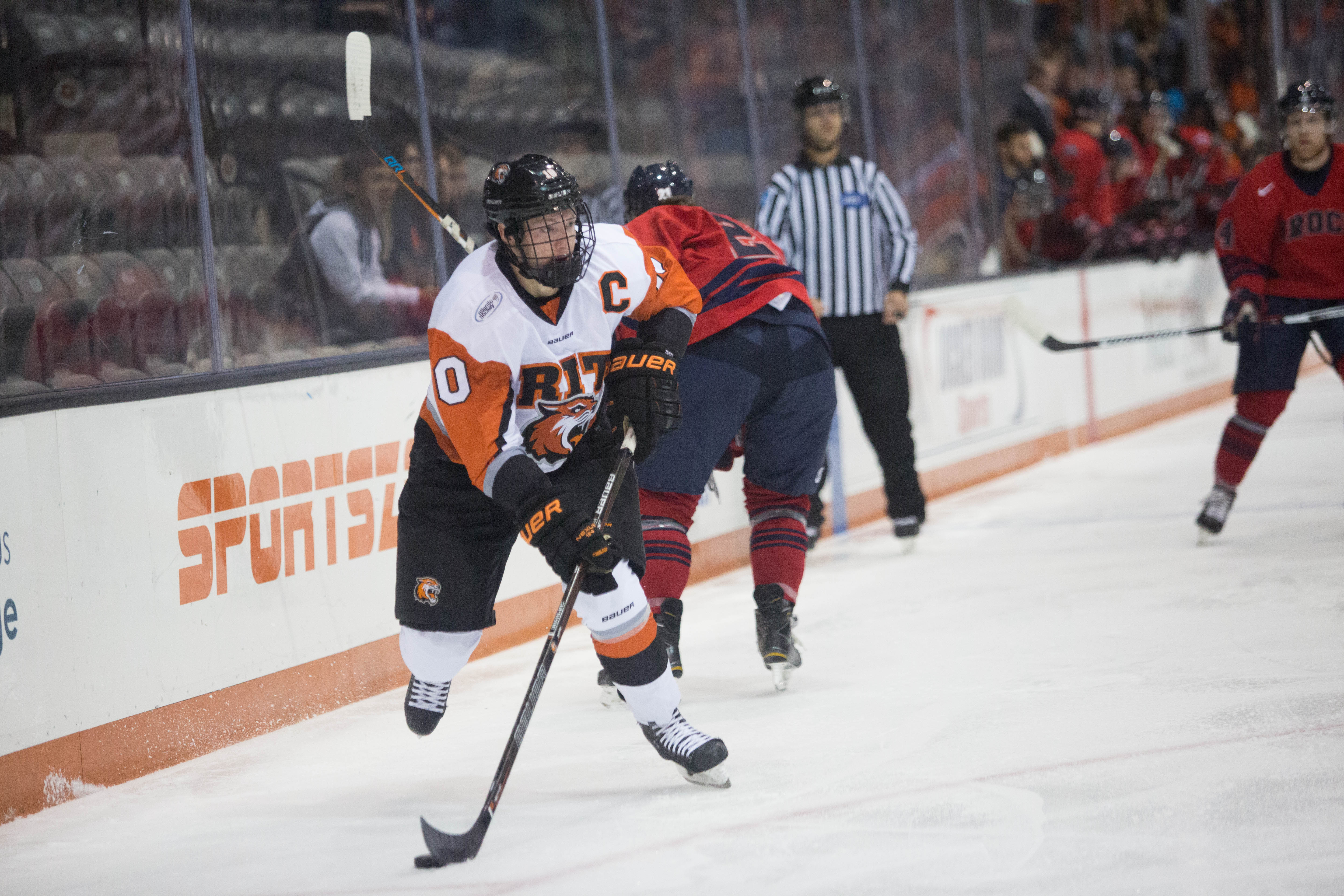 Brady Norrish has a point in six of seven games this season for RIT. (RIT athletic communications)