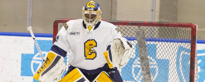 Charles Williams made 84 saves in a two-game sweep of RIT. (Canisius College Athletics)