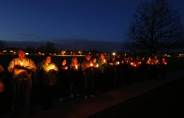 The opioid epidemic has led to annual vigils in Erie County like this one in 2016. (Robert Kirkham/Buffalo News file photo)