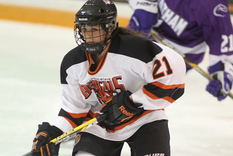 Junior Erin Gehen (West Seneca)  ranks second all-time in scoring for Buffalo State. (Buffalo State Athletic Communications)
