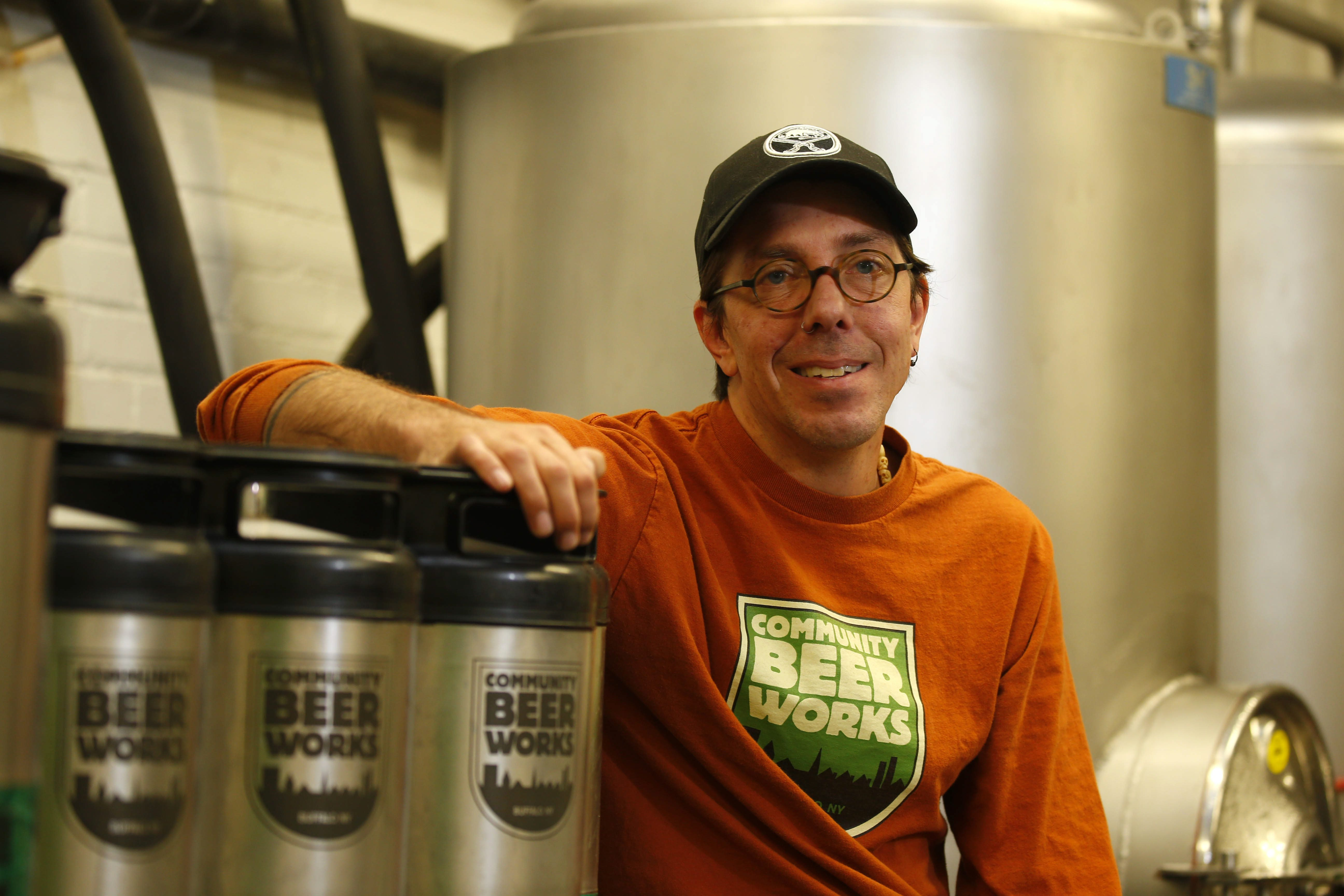 """There's often times in craft beer where we talk about the artistic side of brewing … but behind that art it is very importantly a science. ,"" – Ethan Cox, Community Beer Works co-founder and president. (Mark Mulville/News file photo)"