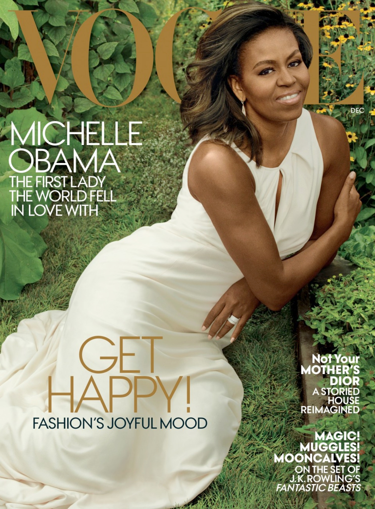 The December cover of Vogue magazine features first lady Michelle Obama, photographed by Annie Leibovitz, Vogue