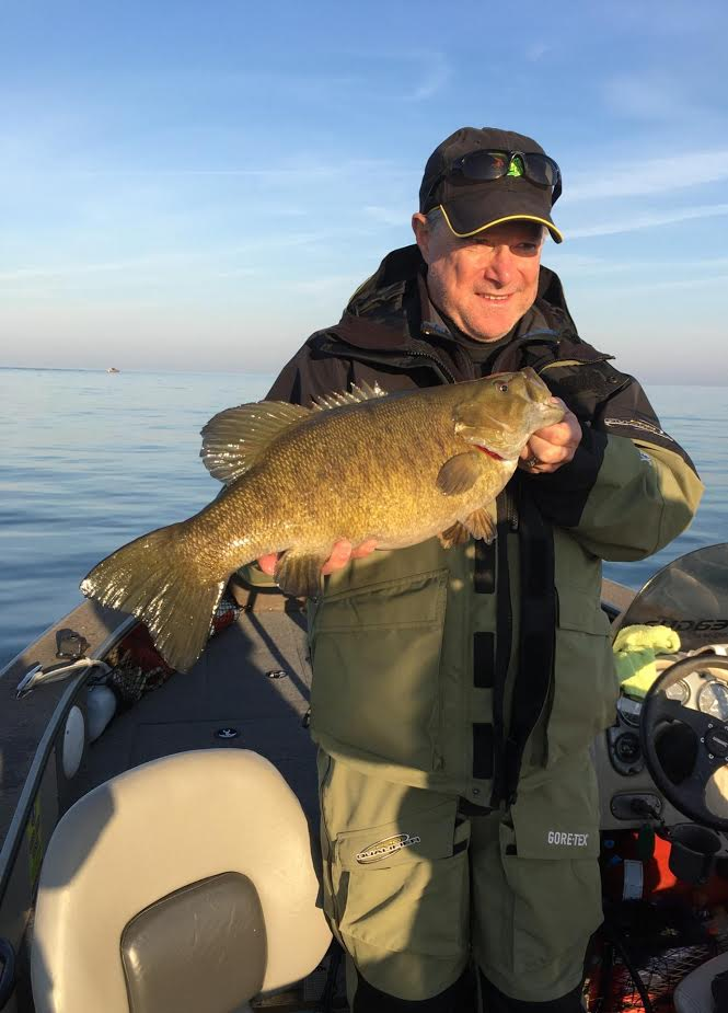 Larry Cabral of New Jersey caught this 6=pound, 7-ounce smallmouth on Saturday morning on the Niagara Bar while fishing with Capt. Jeff Draper of Grand Island with a Kwikfish.
