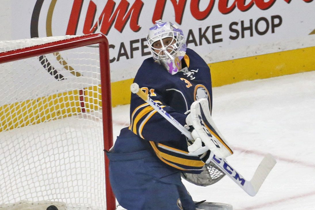 Anders Nilsson will take the net on Thursday when the Sabres host the Rangers. (Buffalo News)