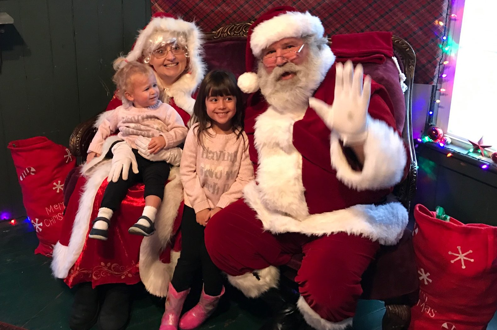 Santa and Mrs. Claus were amazing on 'The Santa Express' at the Arcade and Attica Railroad. (Mary Friona-Celani/Special to The News)
