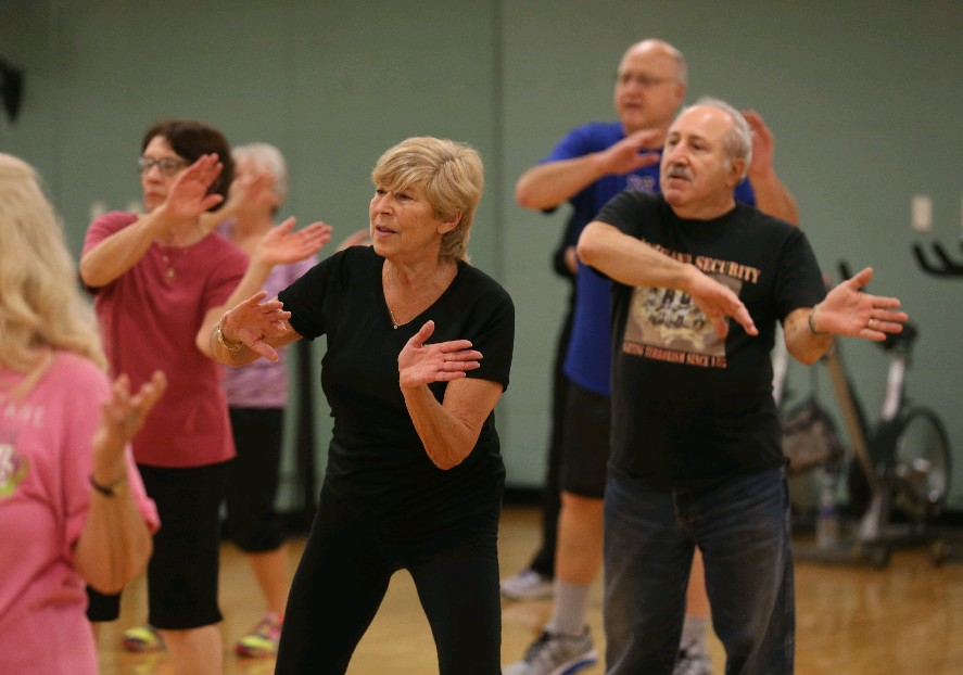 Independent Health Advantage members also get discounts for fitness classes, like this one at the Independent Health Family Branch YMCA in Amherst. (Sharon Cantillon/Buffalo News file photo)