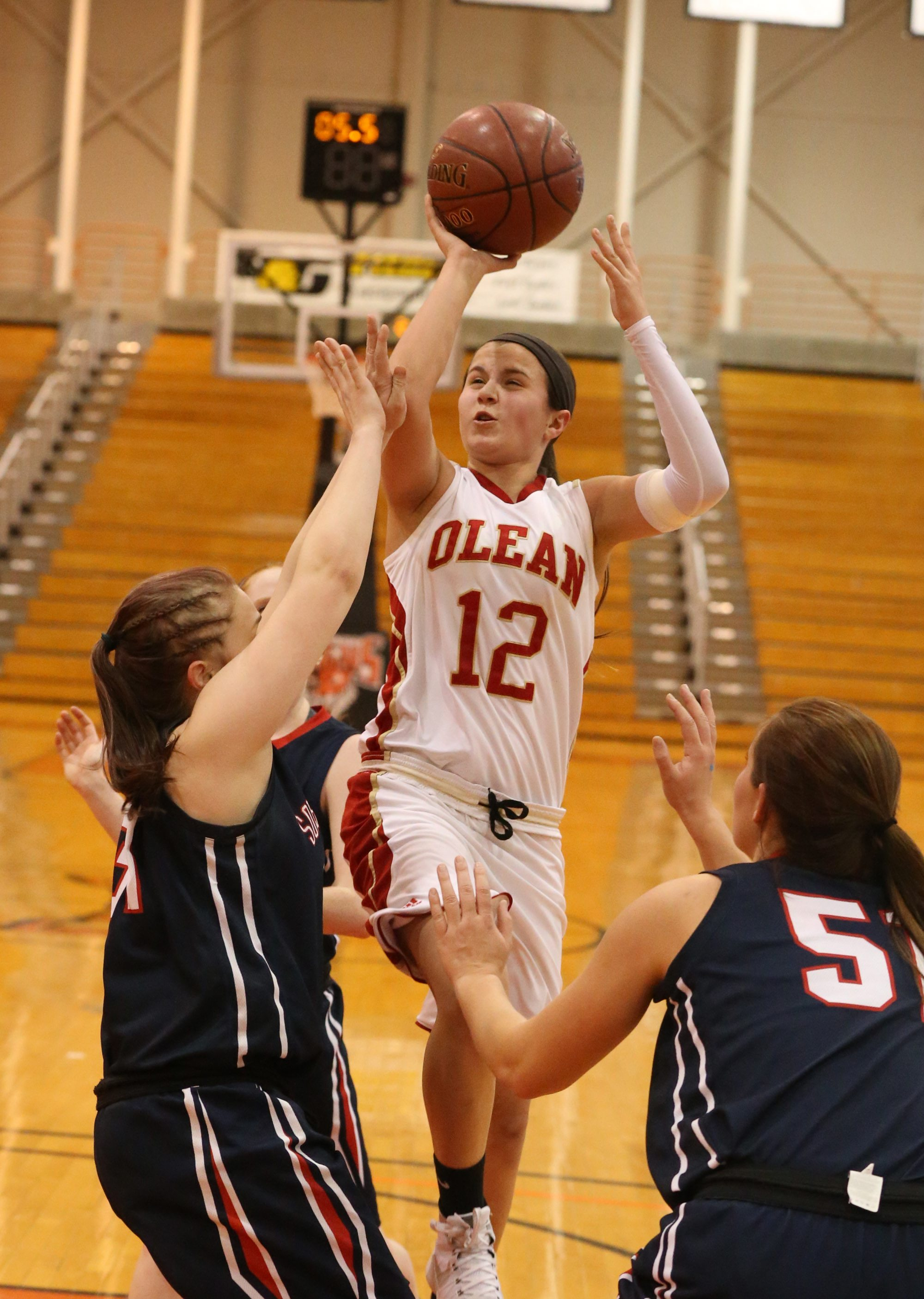 Sara Pfeiffer is the top returning player for an Olean team that has moved up to Class A. (James P. McCoy/Buffalo News)