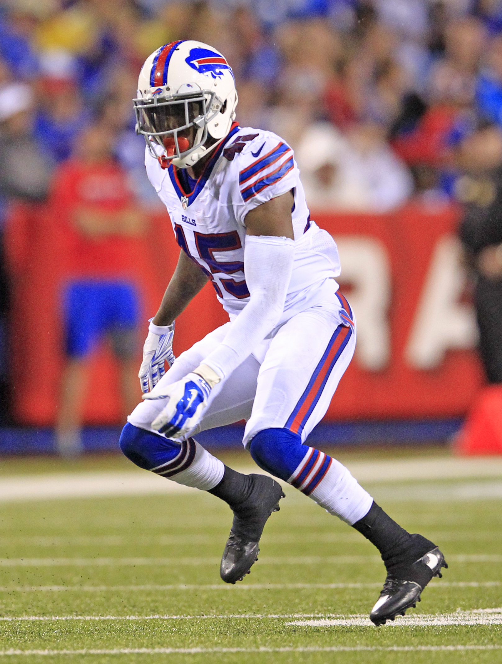 Bills general manager Brandon Beane pulled off a trade with his former team on Saturday, trading cornerback Kevon Seymour to the Carolina Panthers in exchange for wide receiver Kaelin Clay and a 2019 seventh-round draft pick (Harry Scull Jr./Buffalo News)