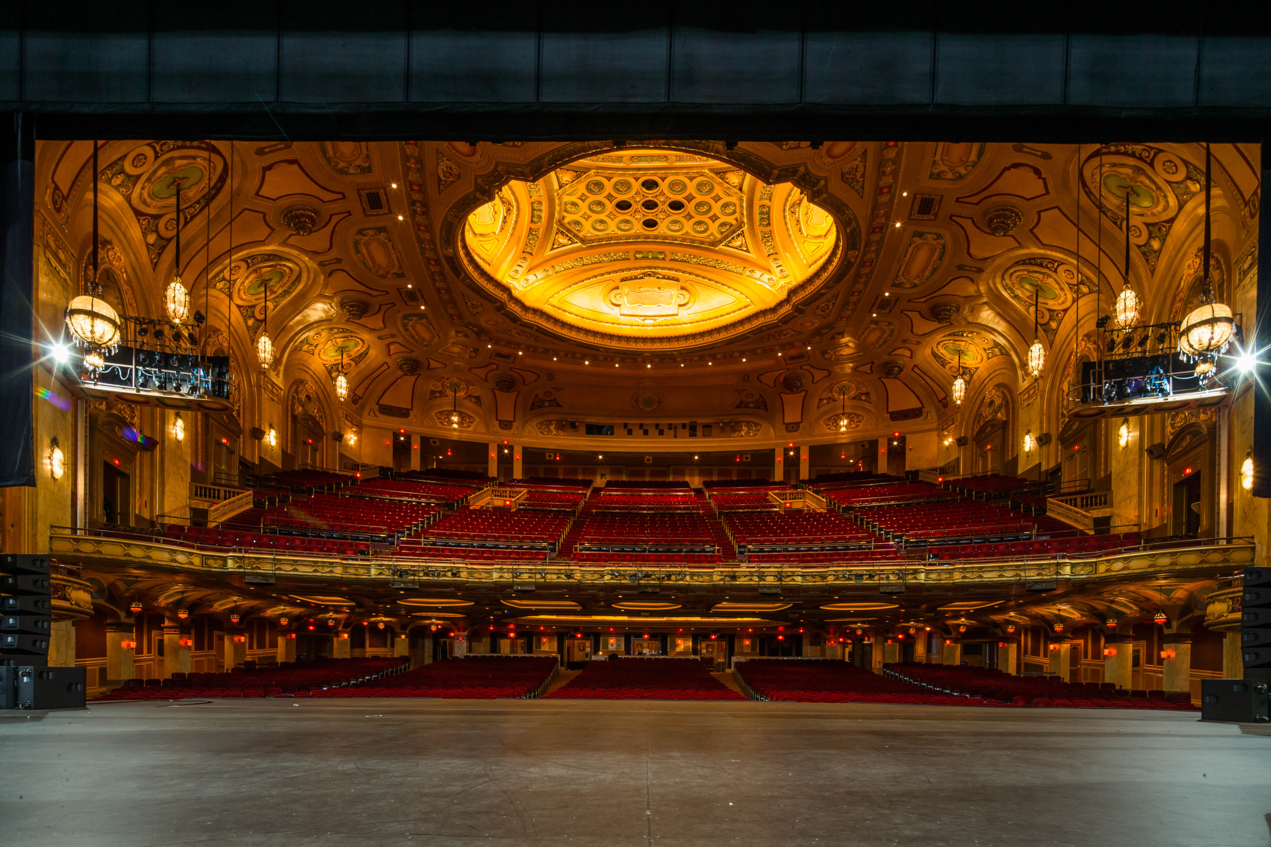 The actor's view of the 3,019-seat auditorium in Shea's Performing Arts Center can be daunting when the house lights are up. (Derek Gee/Buffalo News)