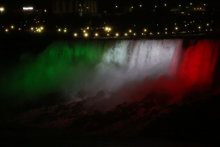New Niagara Falls lights