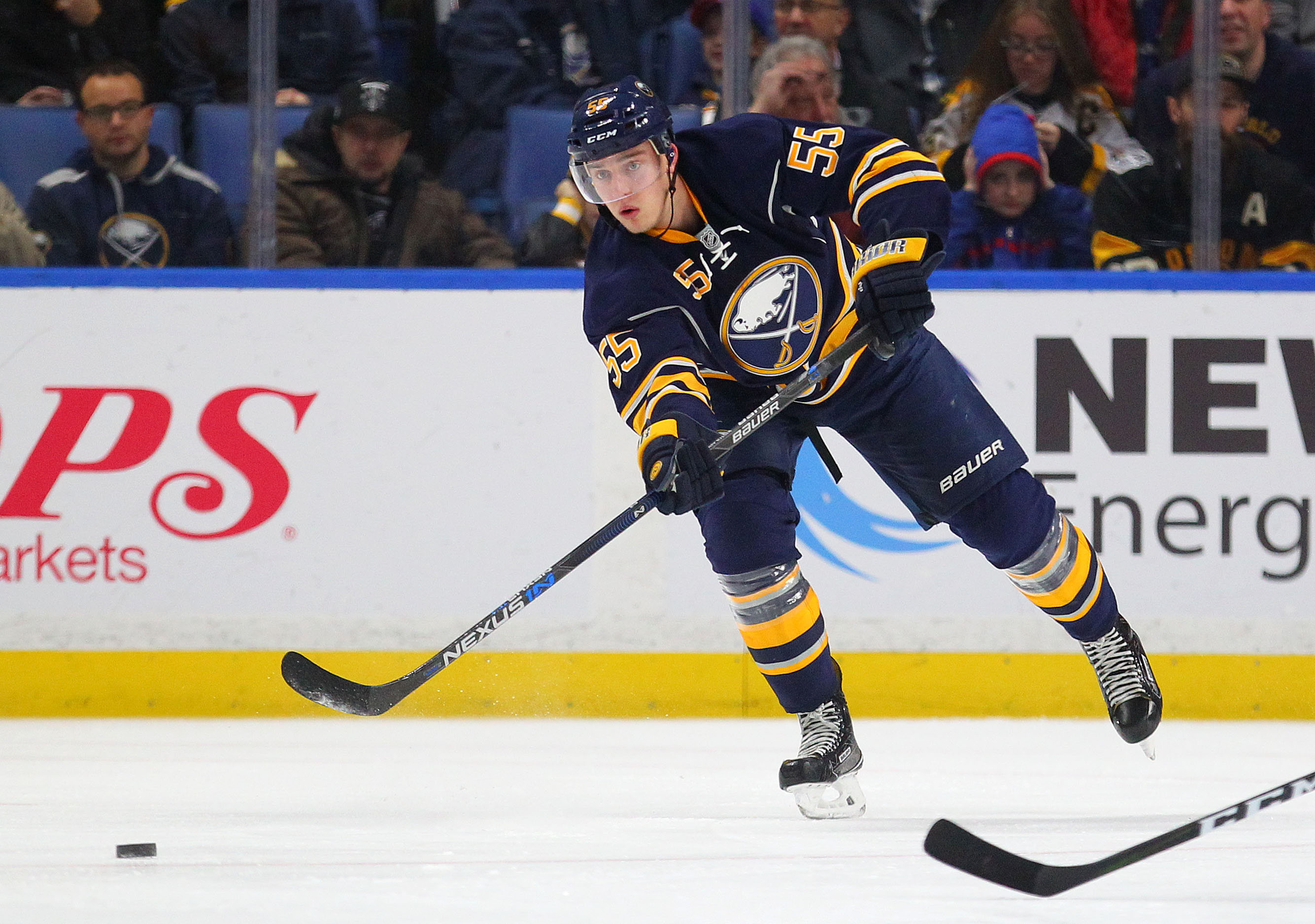 Rasmus Ristolainen ranks fifth among NHL defensemen in average minutes played. (Mark Mulville/Buffalo News)