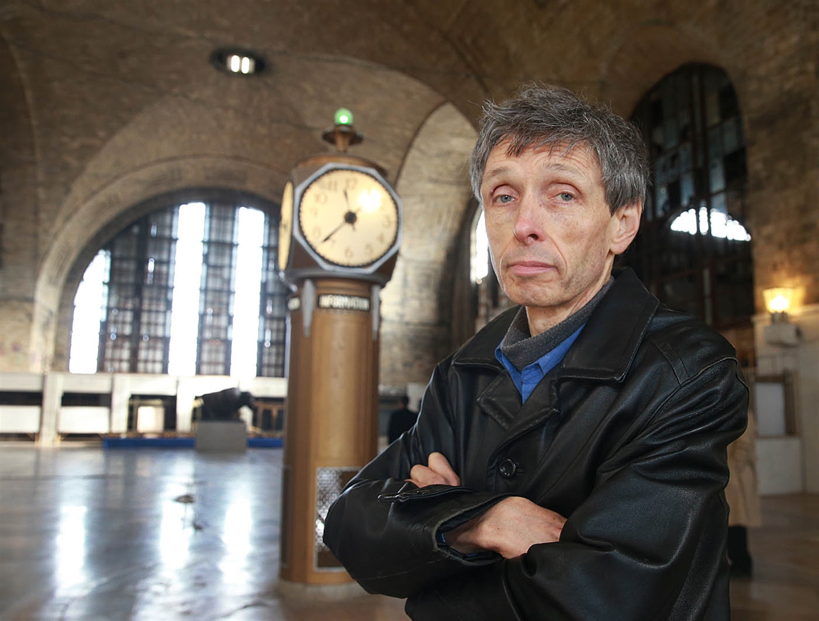 It is the most exciting project I've ever been involved in, and I can't wait to get started,says Harry Stinson, designated developer of the Central Terminal. (John Hickey/Buffalo News)