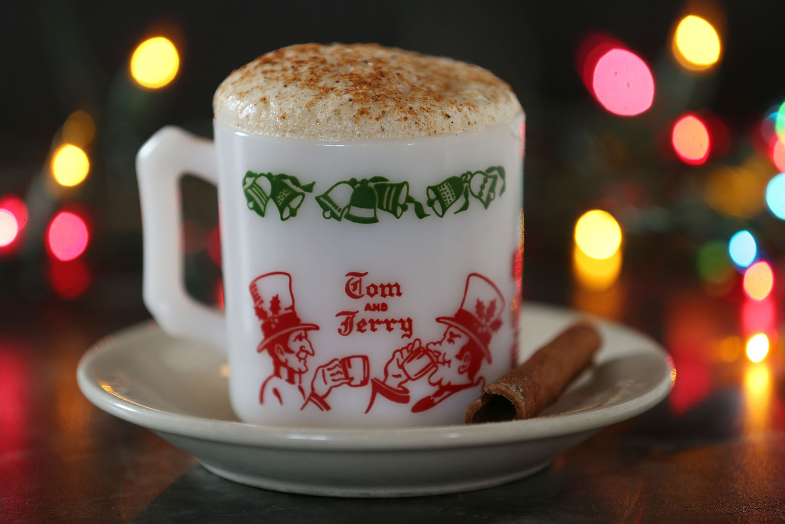 The traditional Christmas cocktail at McPartlan's Corner on Wehrle Drive in Amherst, the Tom & Jerry. It's made with rum, brandy and hot water added to a mixture of their special batter and meringue. (Sharon Cantillon/Buffalo News)