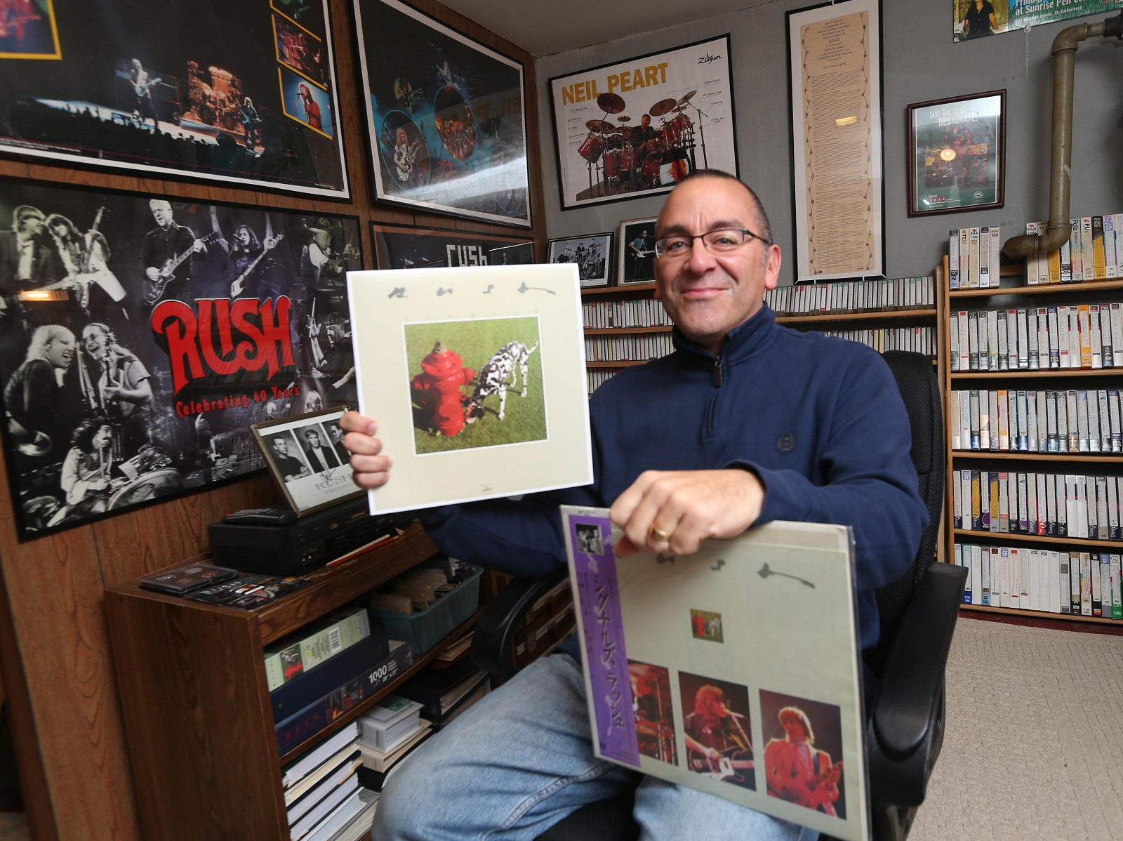 Ray Wawrzyniak of the Town of Tonawanda has been an avid Rush fan for 35 years. He appears in a new documentary about the band which was released about a month ago. (Sharon Cantillon/Buffalo News)