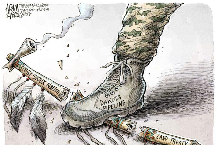 Adam Zyglis: Dakota Access Pipeline