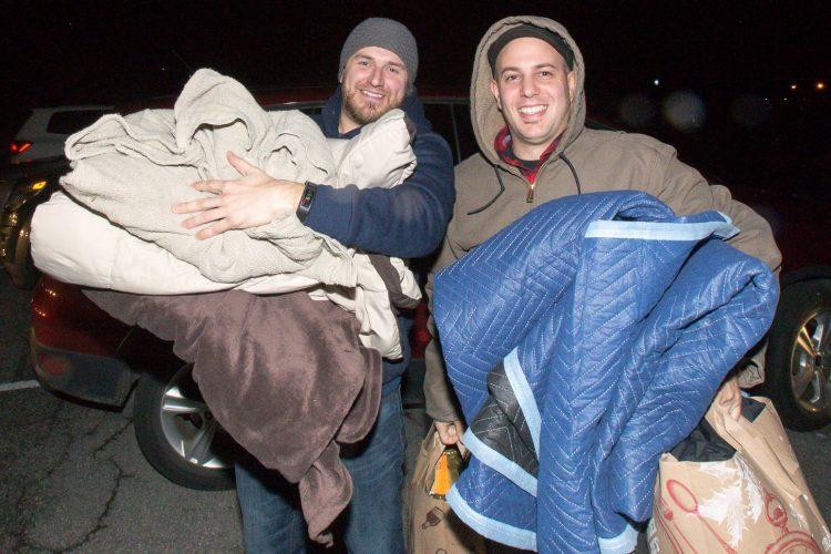 Smiles at Blankets for the Homeless in Tonawanda