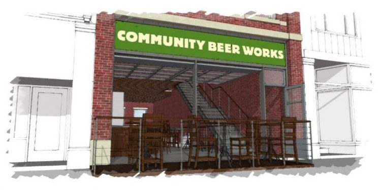 This is a rendering showing developers' plans to open a Community Beer Works microbrewery and tavern at a vacant 324 Niagara St. building in Niagara Falls.