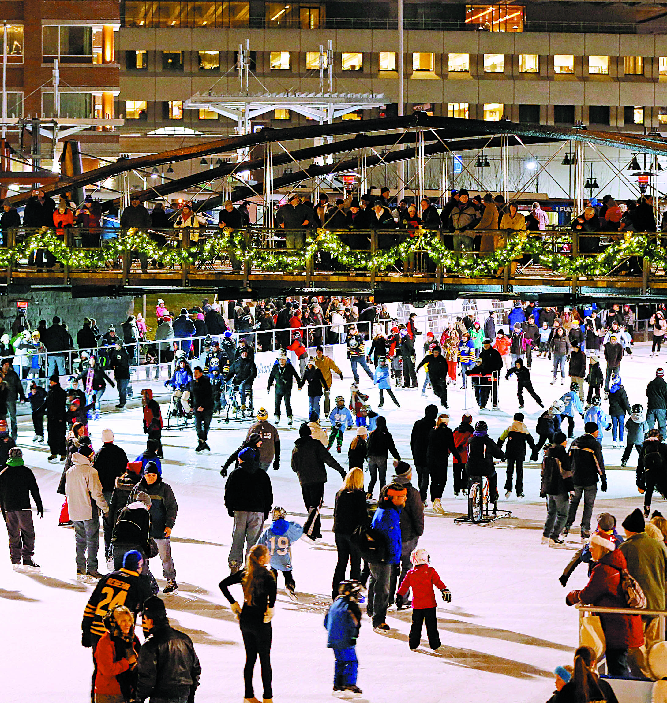 The Ice at Canalside has expanded hours this holiday week. (Derek Gee/News file photo)