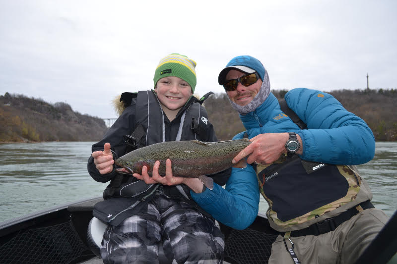 Tyler Hellaby, 9, of Rochester caught his first steelhead ever fishing with Ryan Shea with Brookdog Fishing Company this past weekend. They were using a chartreuse Kwikfish.