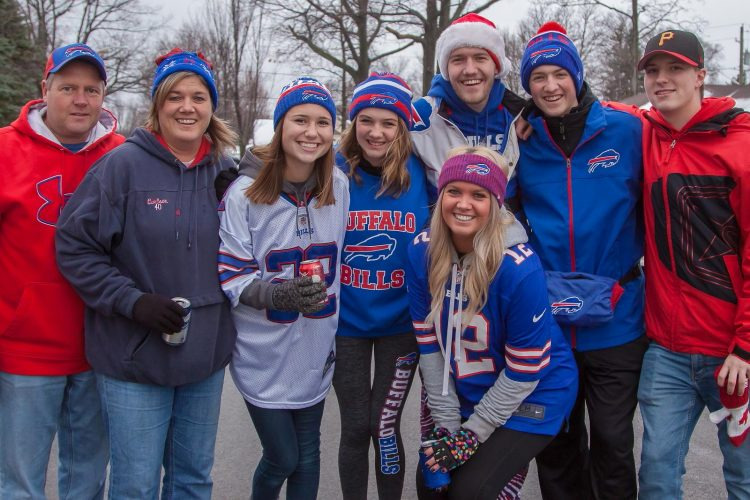 Smiles at the Bills vs. Dolphins Tailgate