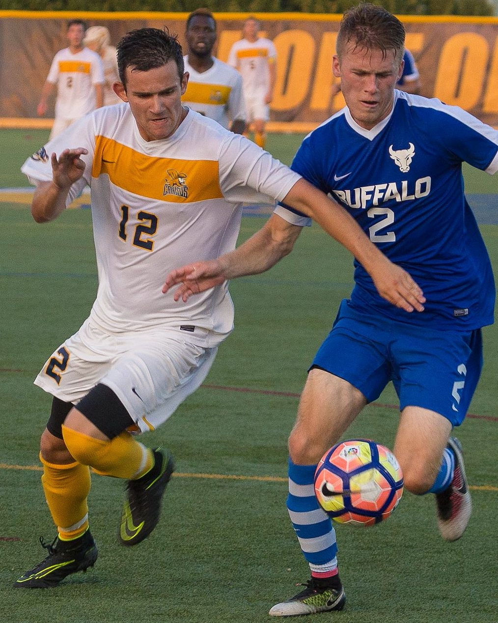 Grand Island graduate Troy Brady, left, played for Canisius before an ACL tear prematurely ended his season. (Don Nieman/Special to The News)