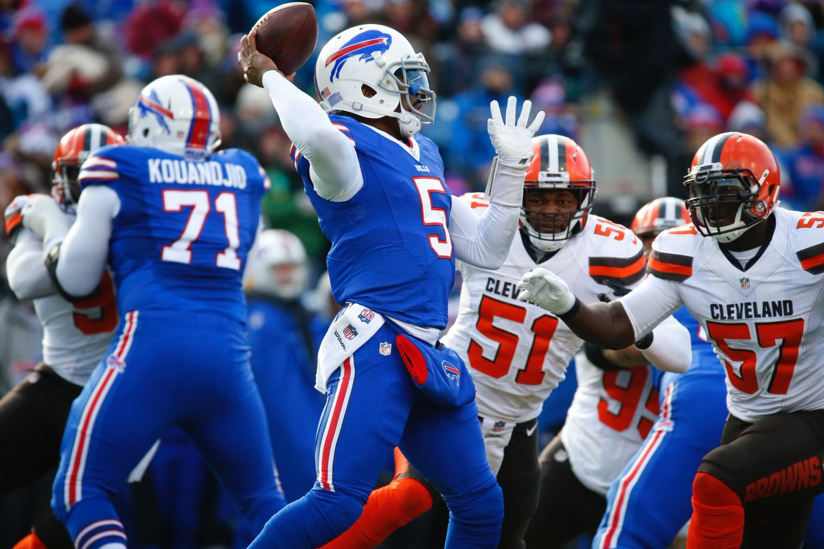 Tyrod Taylor was decent. But we've seen that before. (Harry Scull Jr./Buffalo News)