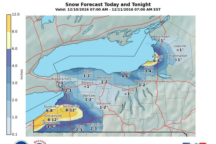 Some flurries forecast for Buffalo Saturday without accumulation