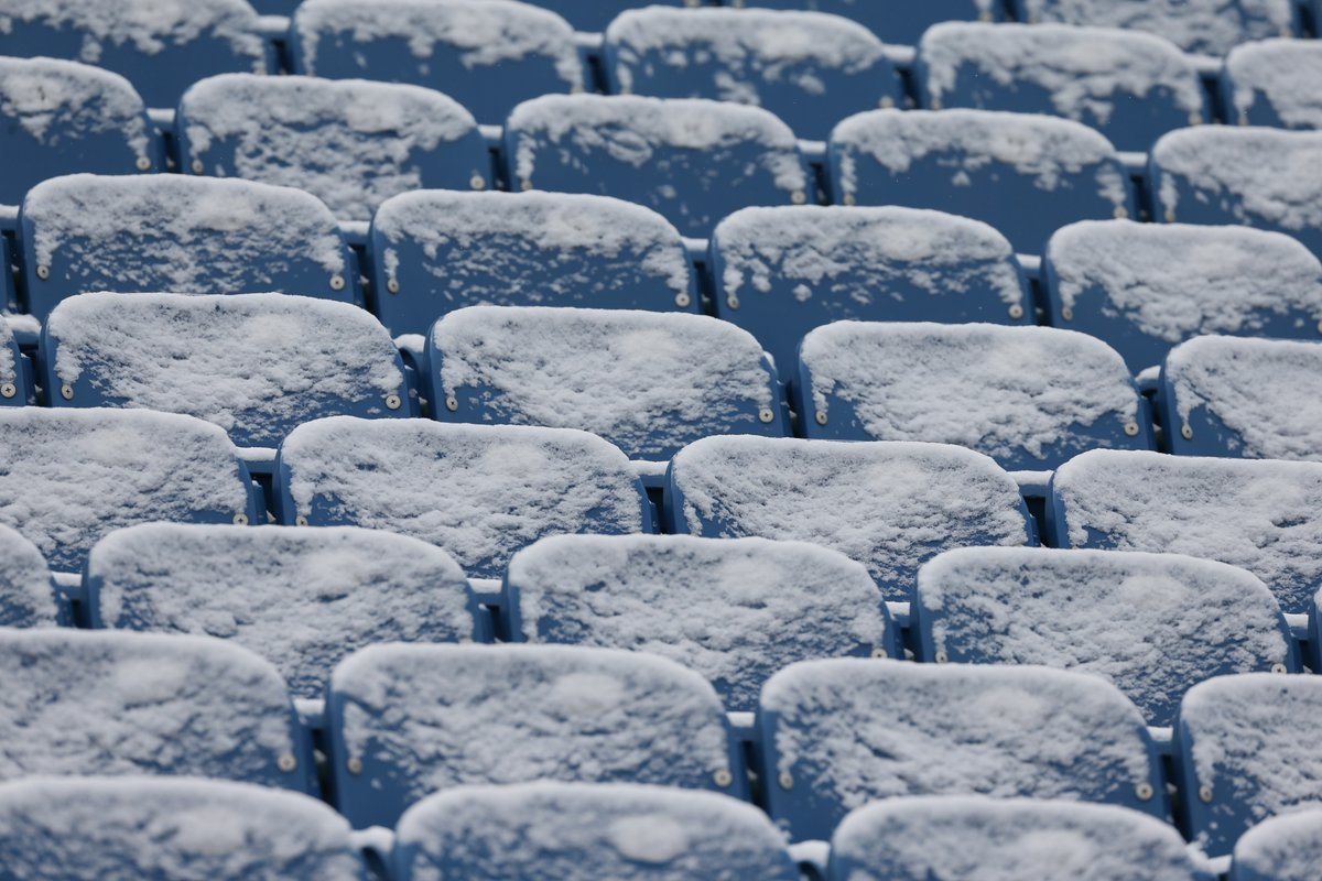 There may be snow at Sunday's Bills-Patriots game. (James P. McCoy/Buffalo News)