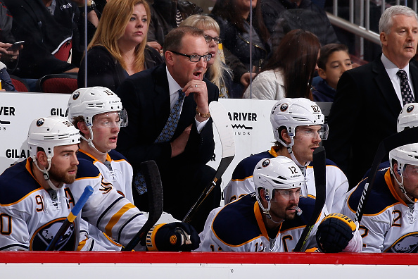Dan Bylsma learned about Rex Ryan's firing after running the Sabres' morning skate Tuesday in Detroit (Getty Images).