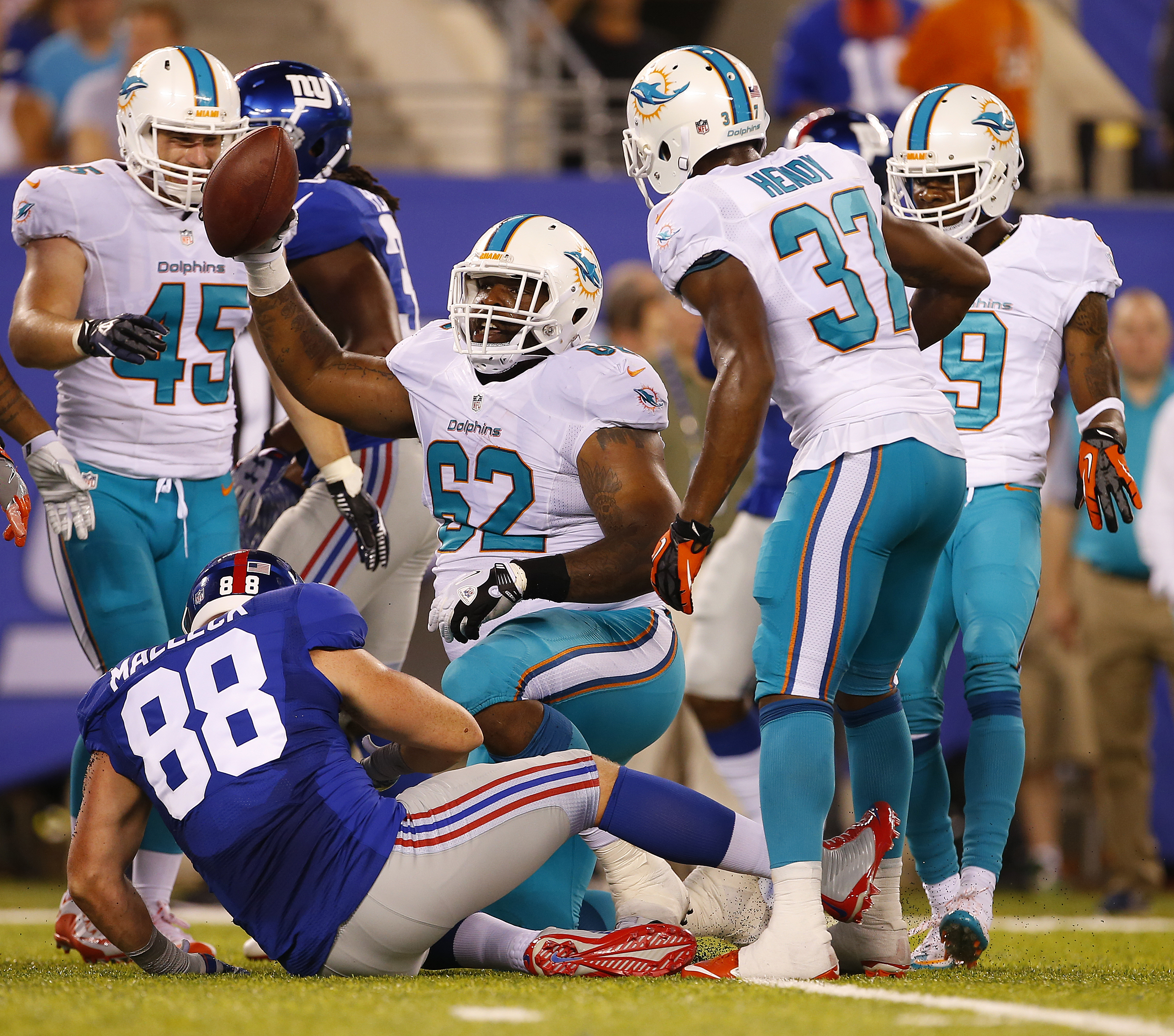Deandre Coleman played five games with the Miami Dolphins the past two seasons before coming to the Bills. (Getty Images)