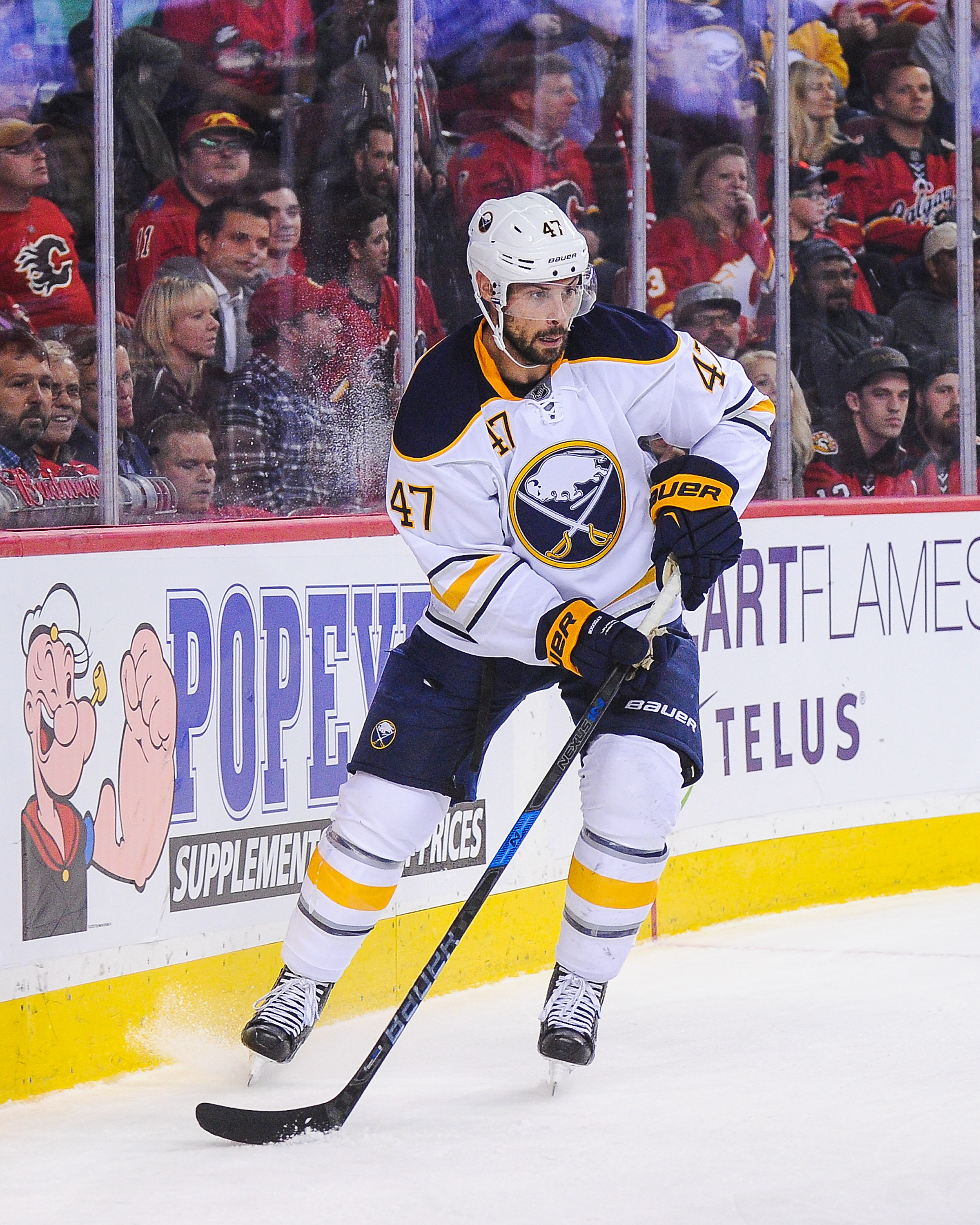 Sabres defenseman Zach Bogosian suffered a sprained ligament in his knee Nov. 1. (Getty Images)