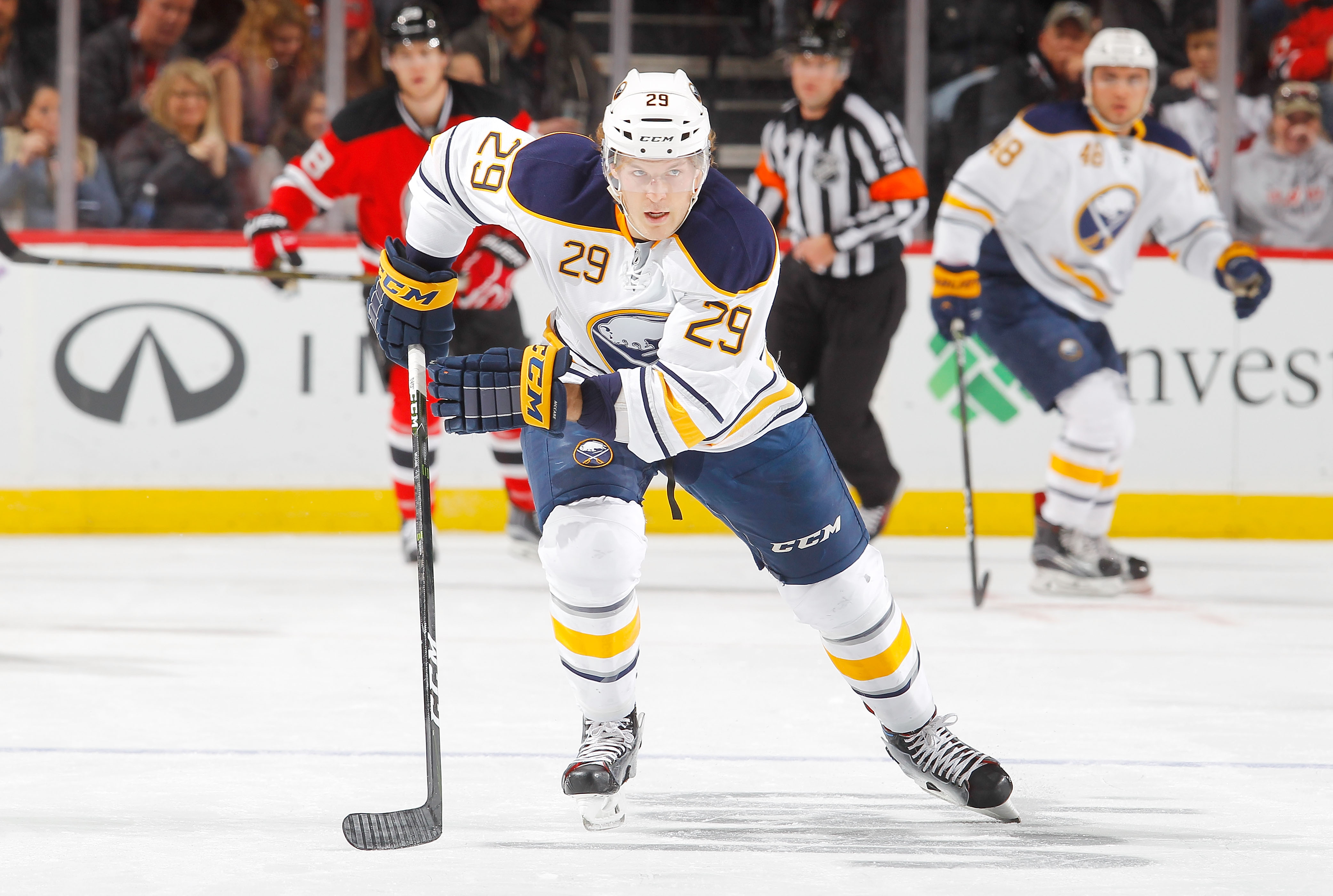 Jake McCabe missed practice Wednesday but should be fine to play Thursday. (Getty Images)