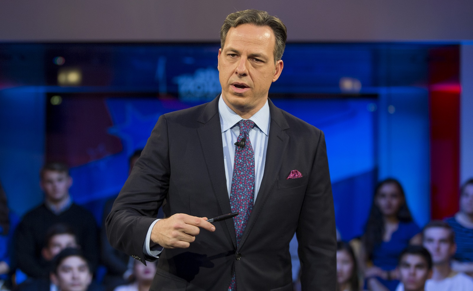 Jeff Simon suggests a book that unfolds CNN's coverage of the 2016 presidential election. Pictured is CNN anchor Jake Tapper, who wrote the book's foreward. (Getty Images)