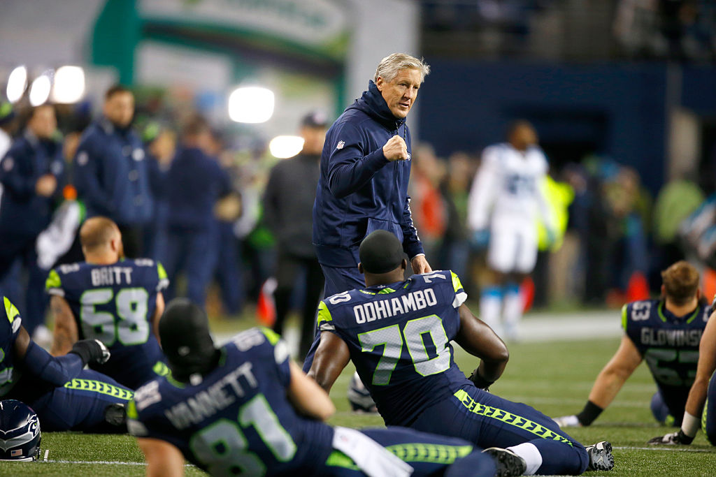 The executive search firm Korn Ferry helped place Pete Carroll with the Seattle Seahawks. (Getty Images)